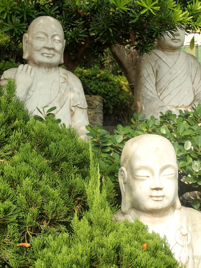 Buddhist statues at Fo Guang Shan, Kaohsiung City