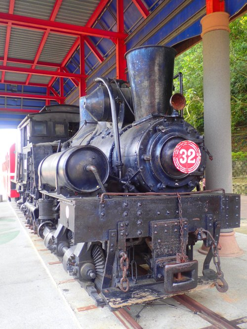 One of the old Shay steam locomotives that once ran on the Alishan Forest Railway, Chiayi County