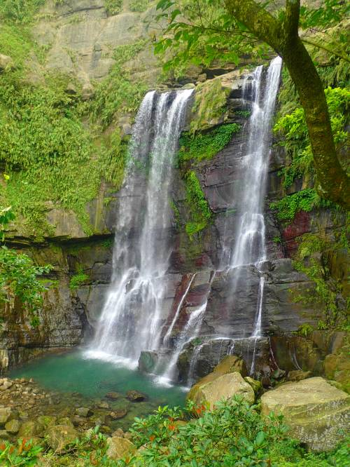 The middle fall at Yuntan Waterfall, Ruili, Chaiyi County