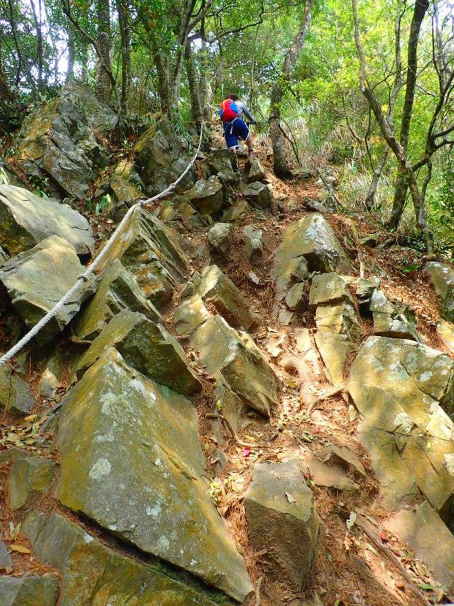 Mt. Wuwowei, the steepest climb of the seven, is also one of the most interesting