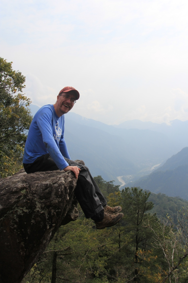 Me on the distinctive summit rock , which offers one of the finer views of the Seven Heroes