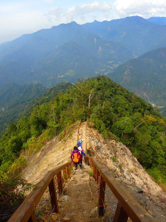 Near the summit of Mount Baimao