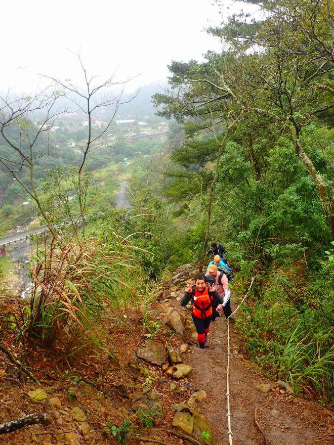 Near the start of the climb up Mt. Tangmadan
