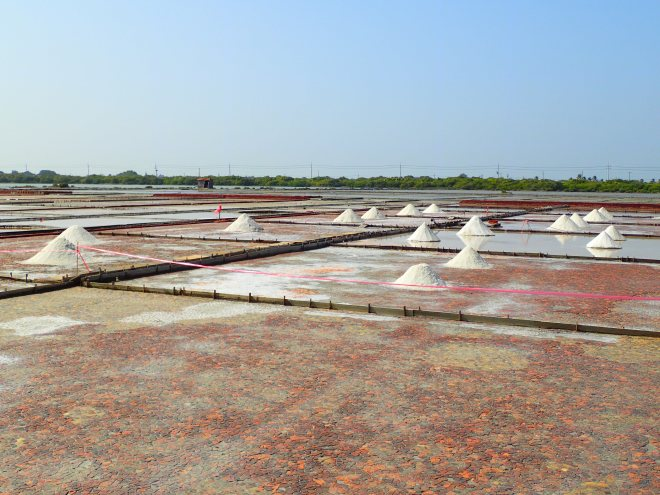 Salt fields in Tainan City, a reminder of an ancient industry that's been practiced in today's ROC for eight centuries