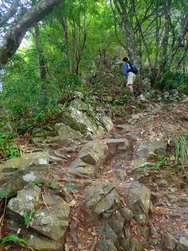 Although generally a relatively gentle climb, there are two extended, very steep sections along the 6-kilometer trail to the summit