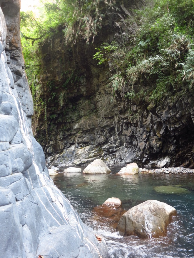 The gorge below the hot spring