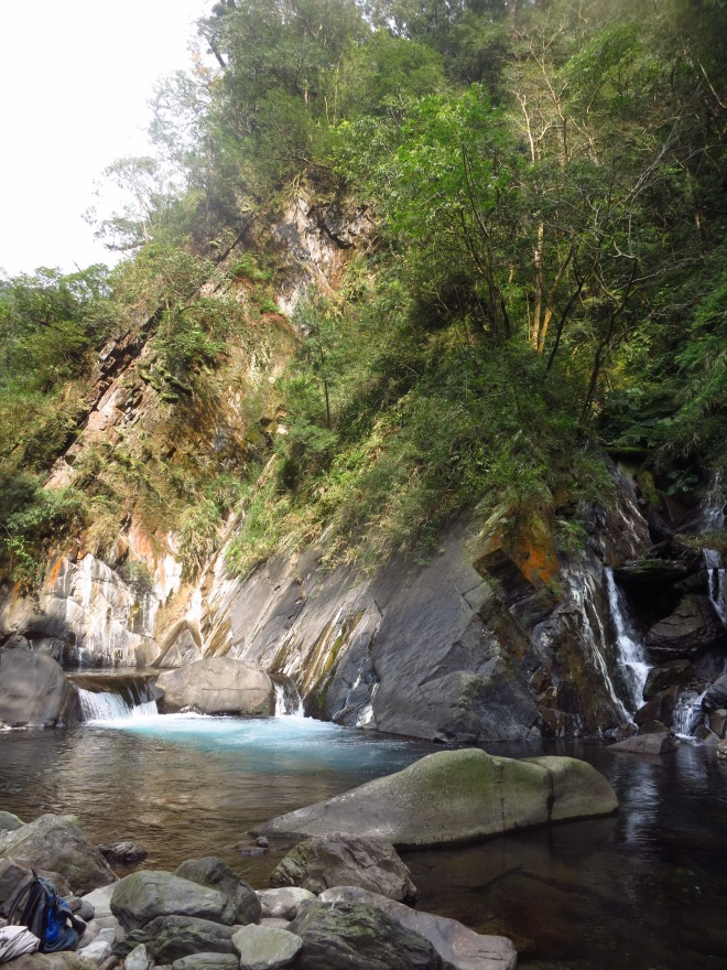 The river just above the hot spring
